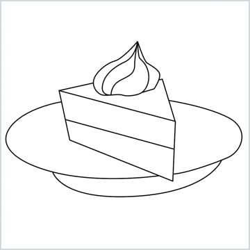 pie cake drawing