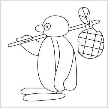 pingu drawing