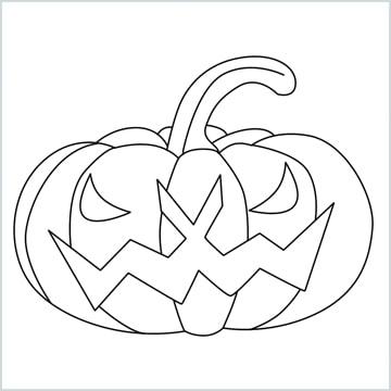 scary pumpkin drawing