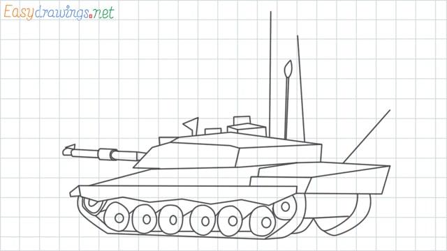 Army tank grid line drawing