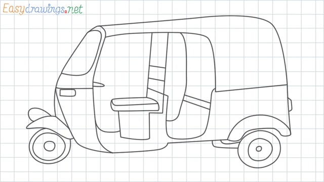 Auto rickshaw grid line drawing