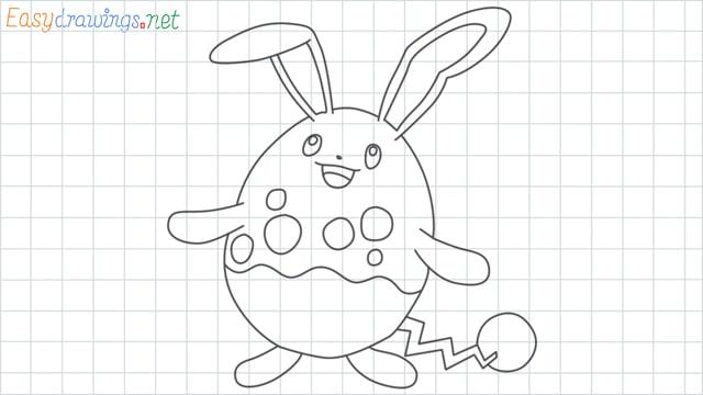 Azumarill grid line drawing