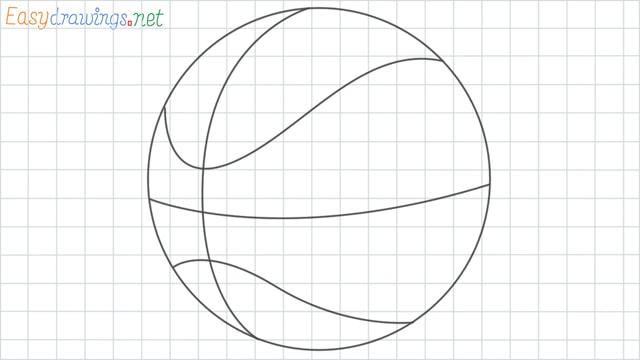 Basketball grid line drawing