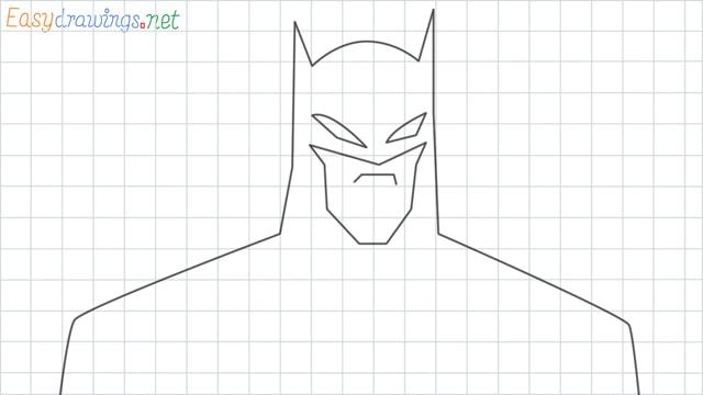 Batman grid line drawing