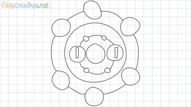 Bronzor grid line drawing