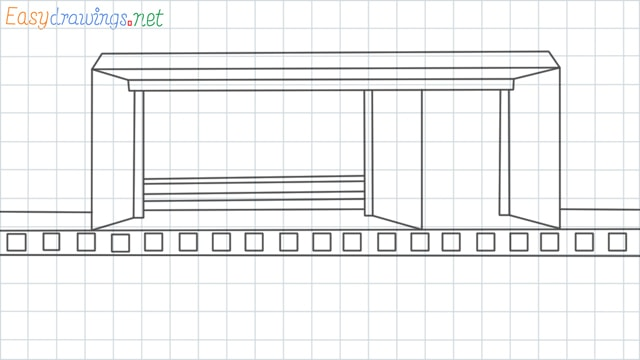 Bus stop grid line drawing