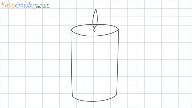 Candle grid line drawing