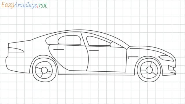 Car grid line drawing