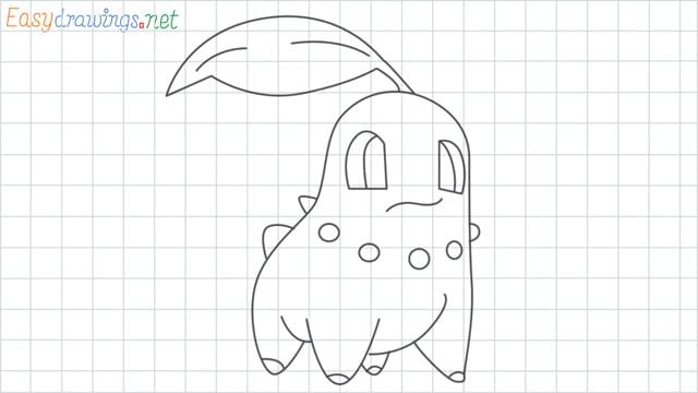 Chikorita grid line drawing