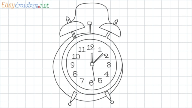 Clock grid line drawing