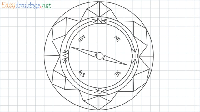 Compass grid line drawing