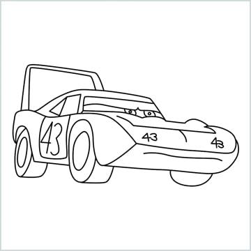 Dinoco car drawing