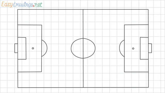 Football court grid line drawing