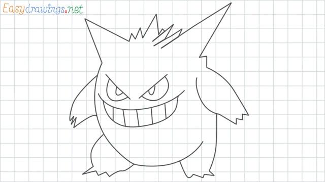 Gengar grid line drawing