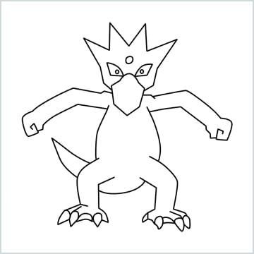 Golduck drawing