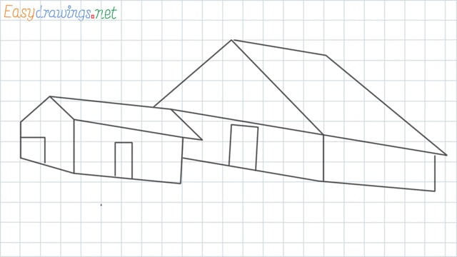 Guest house grid line drawing