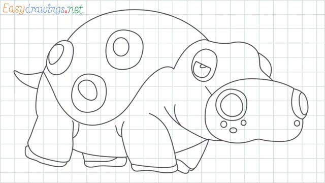 Hippowdon grid line drawing