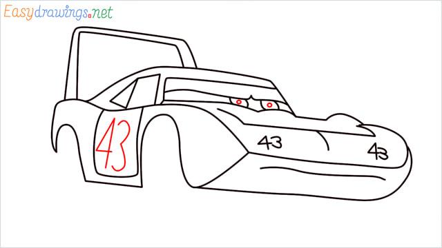 How to draw Dinoco car step (10)