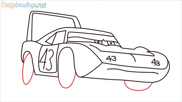 How to draw Dinoco car step (11)