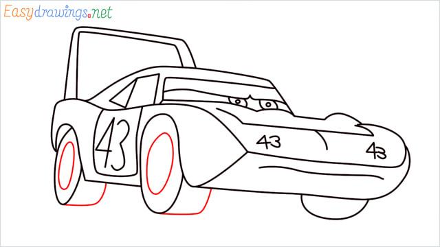 How to draw Dinoco car step (12)
