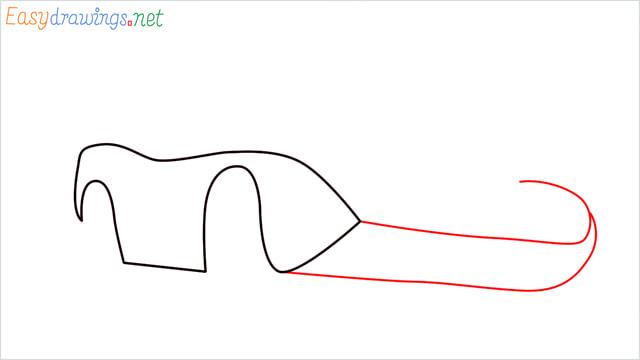 How to draw Dinoco car step (3)