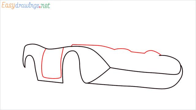 How to draw Dinoco car step (4)