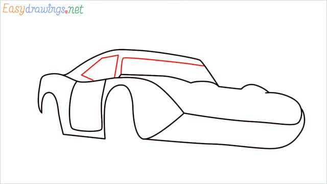 How to draw Dinoco car step (6)