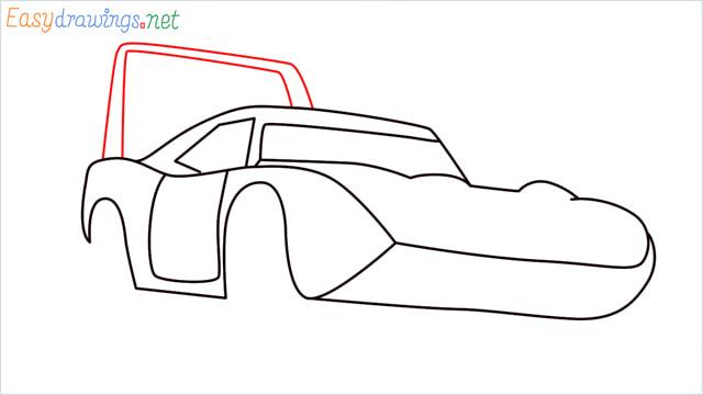 How to draw Dinoco car step (7)