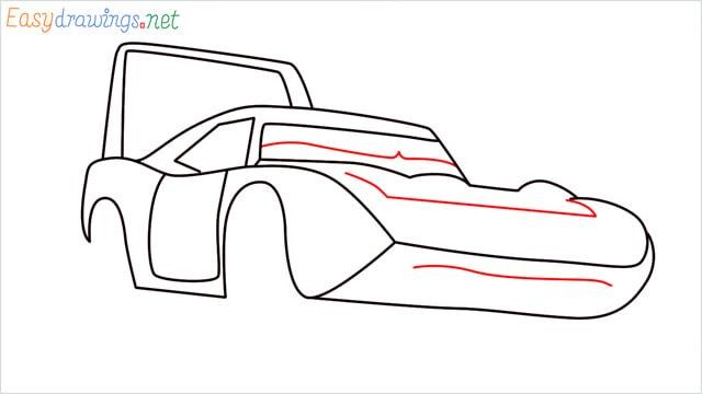 How to draw Dinoco car step (8)