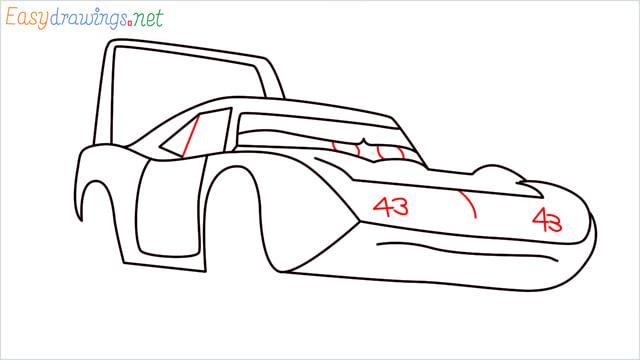 How to draw Dinoco car step (9)