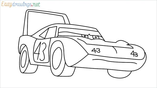 How to draw Dinoco car step by step