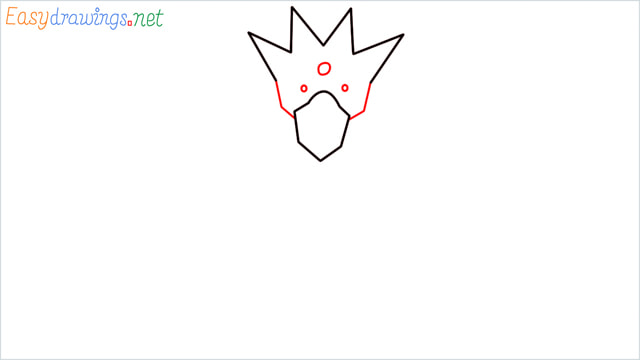 How to draw Golduck step (3)
