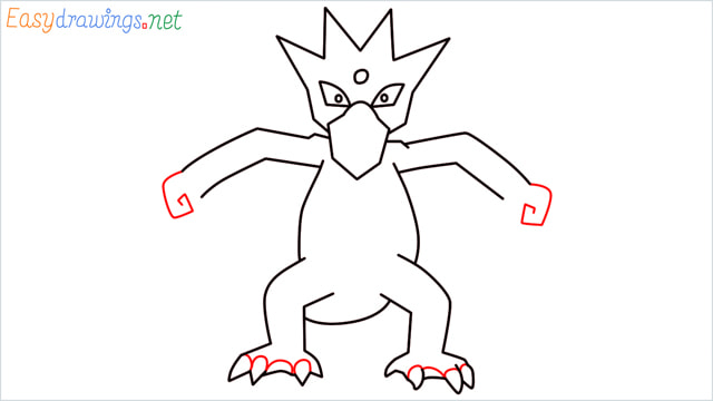 How to draw Golduck step (8)
