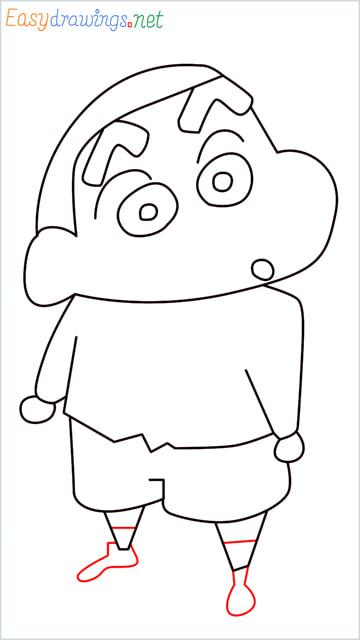 How to draw Shin chan step (11)