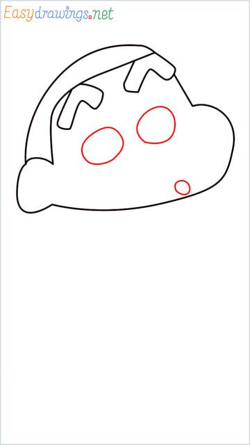 How to draw Shin chan step (4)