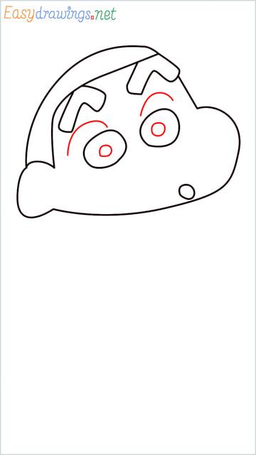 How to draw Shin chan step (5)