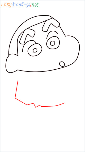 How to draw Shin chan step (6)