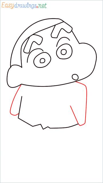How to draw Shin chan step (7)