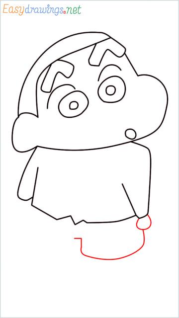 How to draw Shin chan step (8)