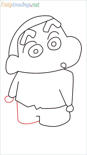 How to draw Shin chan step (9)