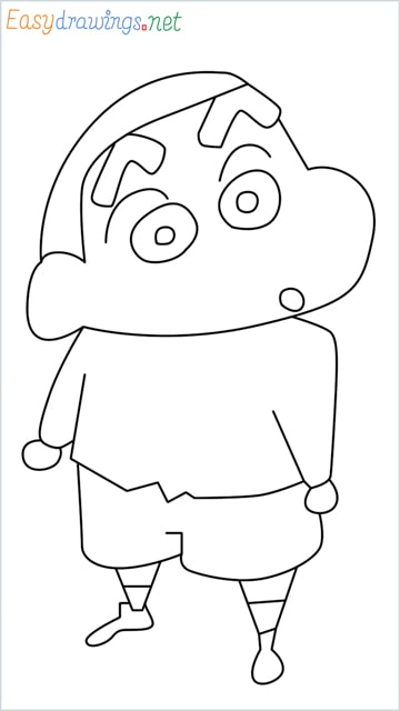 How to draw Shin chan step by step