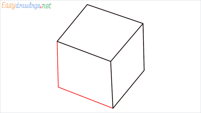 How to draw a Dice step (3)
