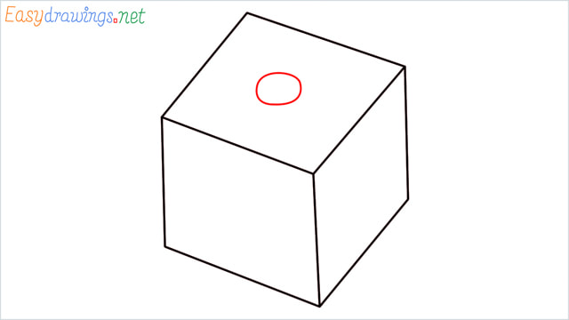 How to draw a Dice step (4)