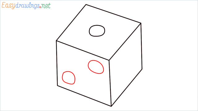 How to draw a Dice step (5)