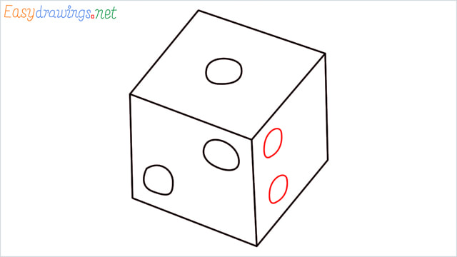 How to draw a Dice step (6)