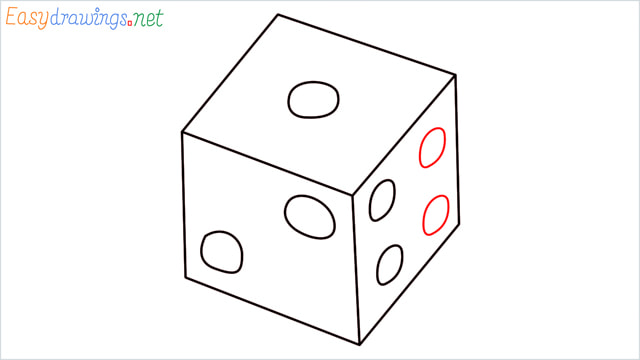 How to draw a Dice step (7)