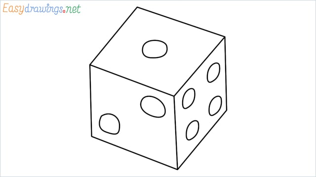 How to draw a Dice step by step
