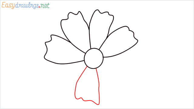 How to draw a Marigold flower step (6)