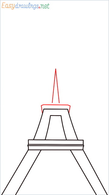How to draw the Eiffel tower step (5)