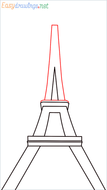 How to draw the Eiffel tower step (6)